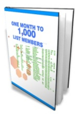 Product picture 1 Month To 1000 List Members make more money
